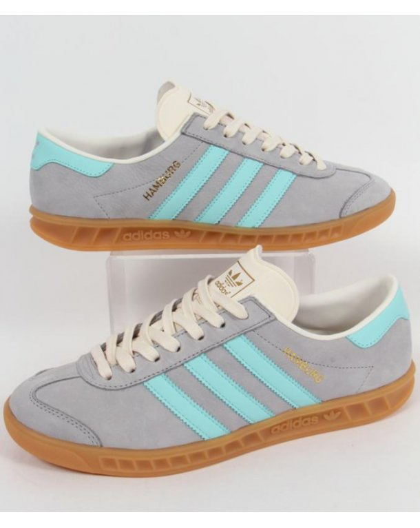 mens adidas hamburg trainers grey