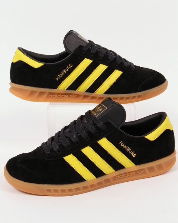 Adidas Hamburg Trainers in Black/lemon Oslo
