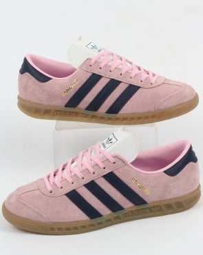adidas Trainers Adidas Hamburg Trainers Light Pink/Dark Blue