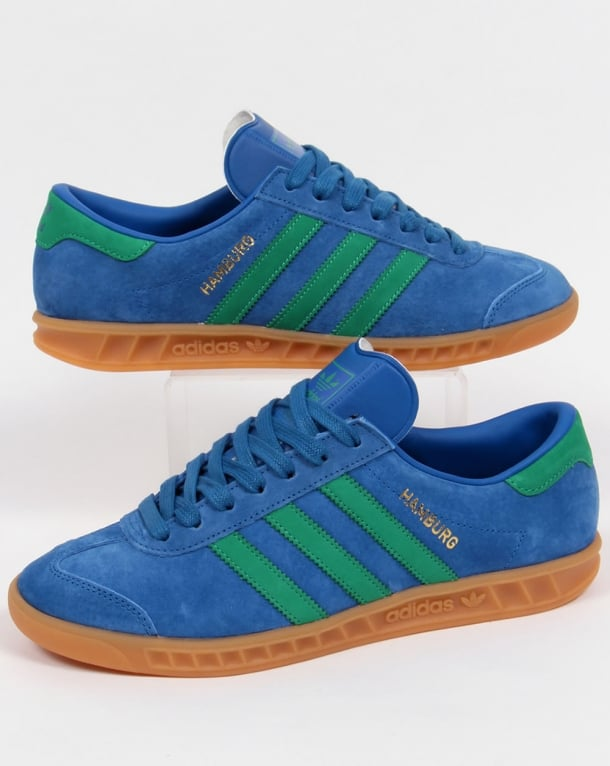 Adidas Hamburg Trainers Lush Blue/green