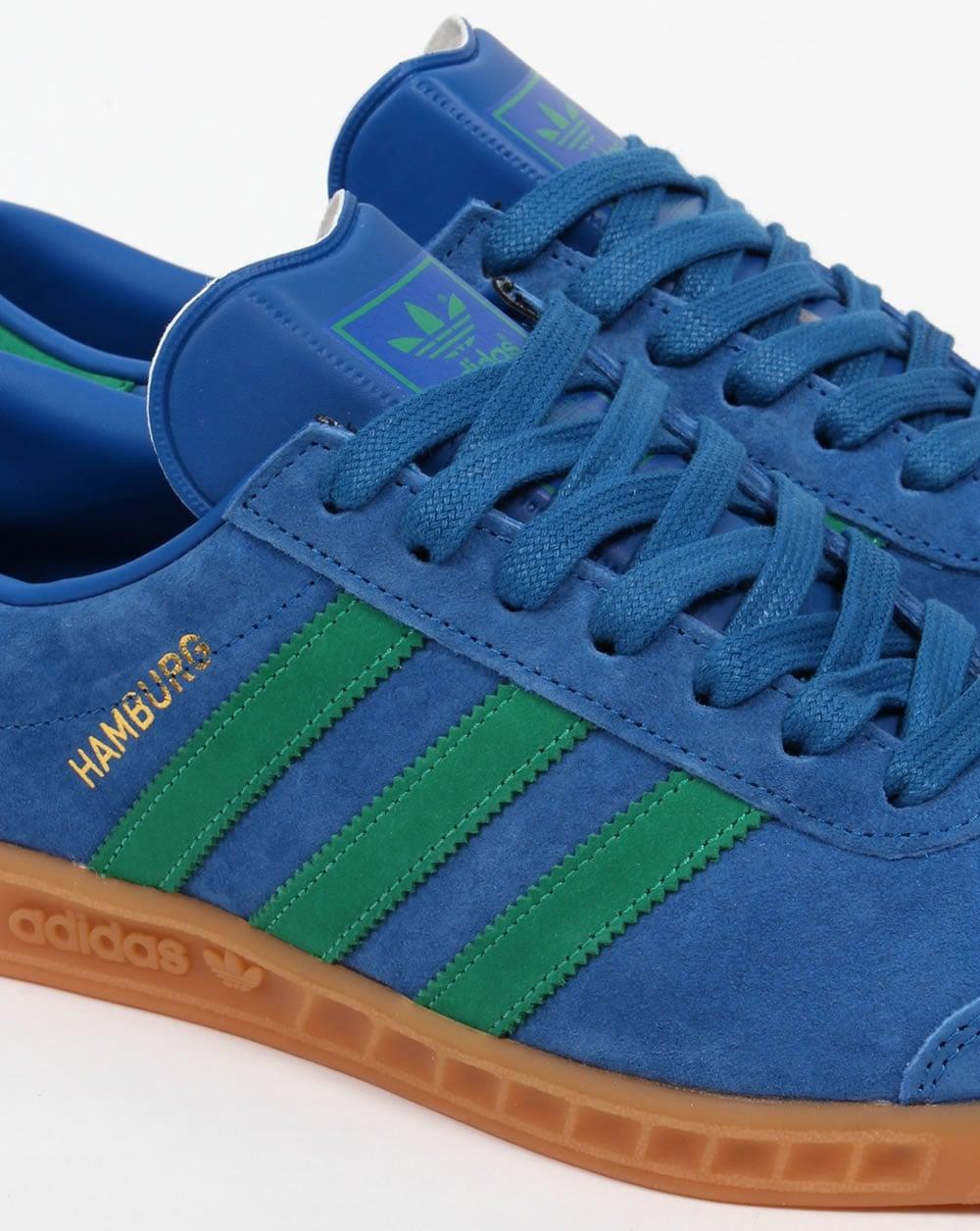 Adidas Hamburg Trainers Lush Blue/green