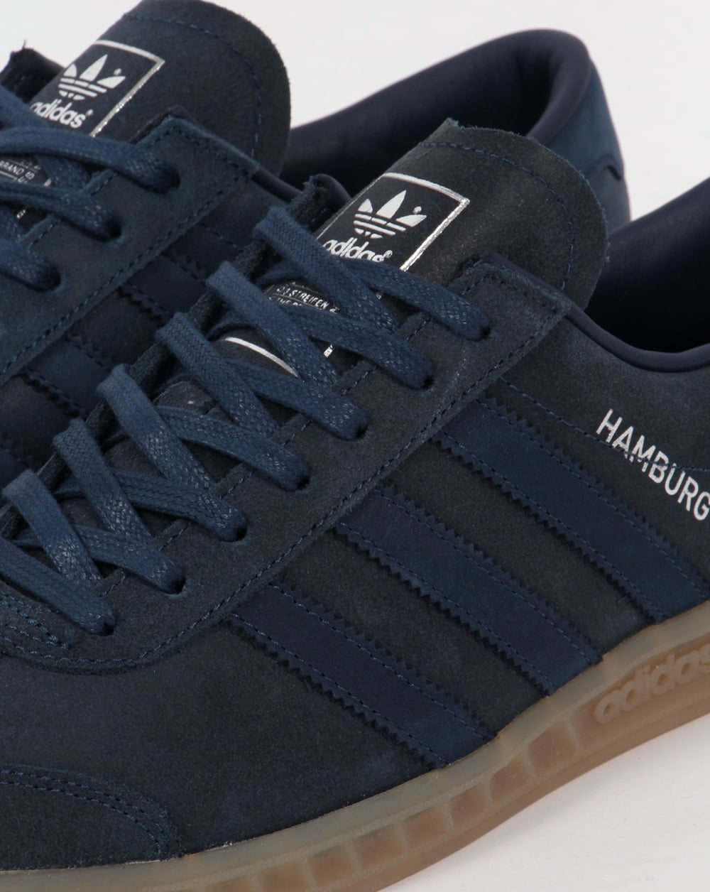 Adidas Originals Hamburg Tech Trainer Dunkelblau und Gum
