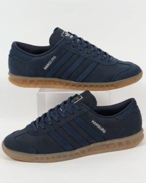 Adidas Trainers Adidas Hamburg Trainers Mid Blue