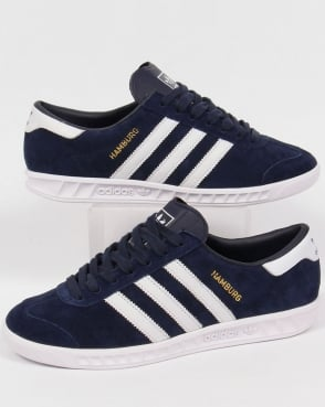 Adidas Hamburg Trainers Navy/White