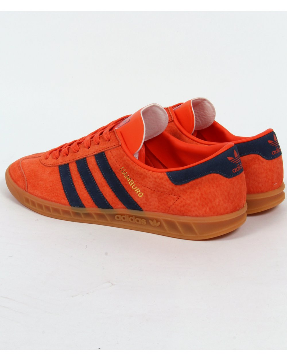 men's adidas red hamburg trainers