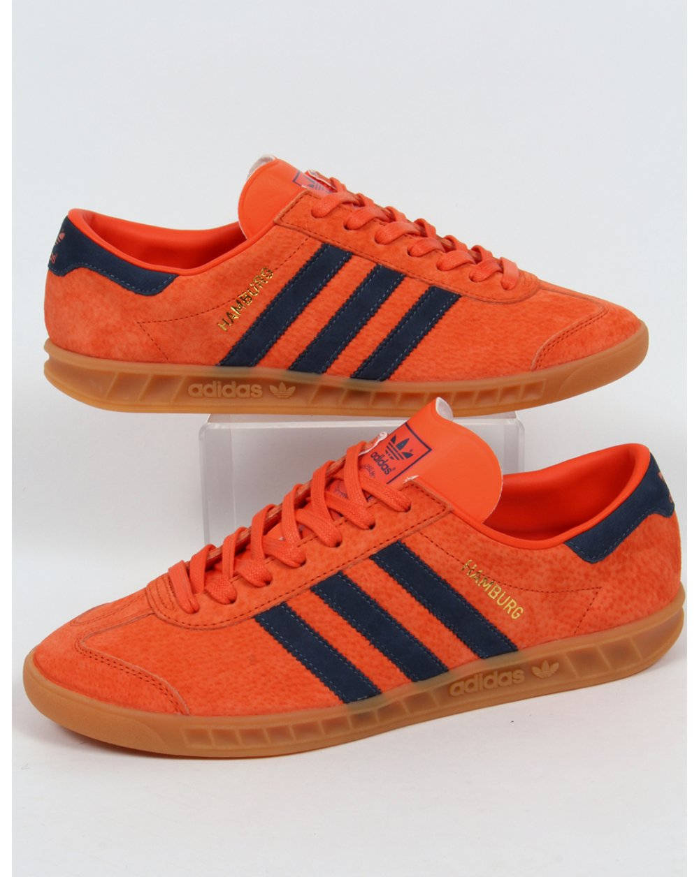 adidas Trainers Adidas Hamburg Trainers Orange navy 652373d39113