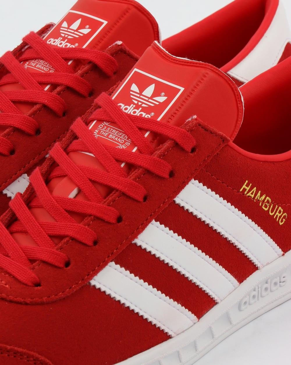 Adidas Hamburg Trainers Red/White