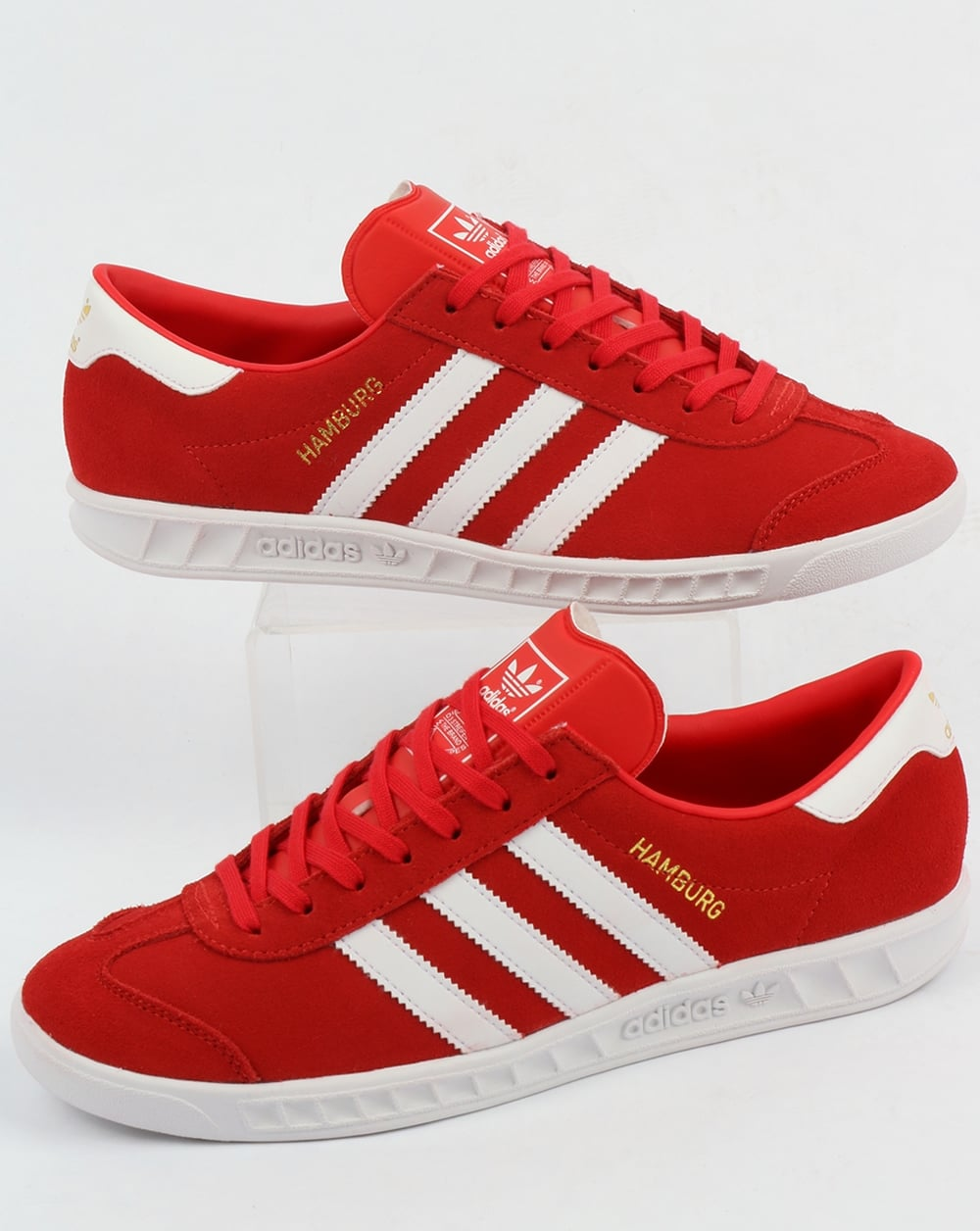 4195739dfbeb adidas Trainers Adidas Hamburg Trainers Red White