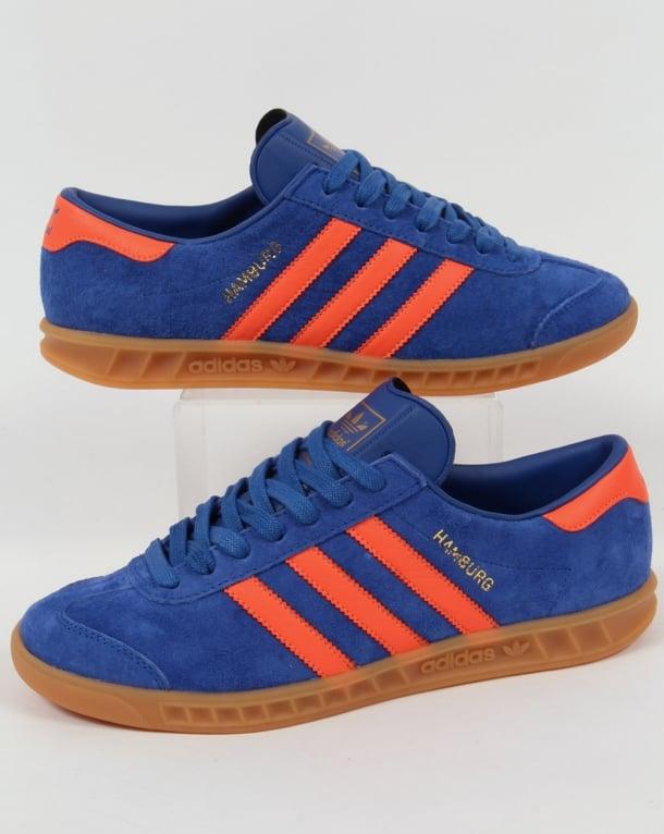 Adidas Hamburg Trainers Royal Blue/Orange Dublin ...