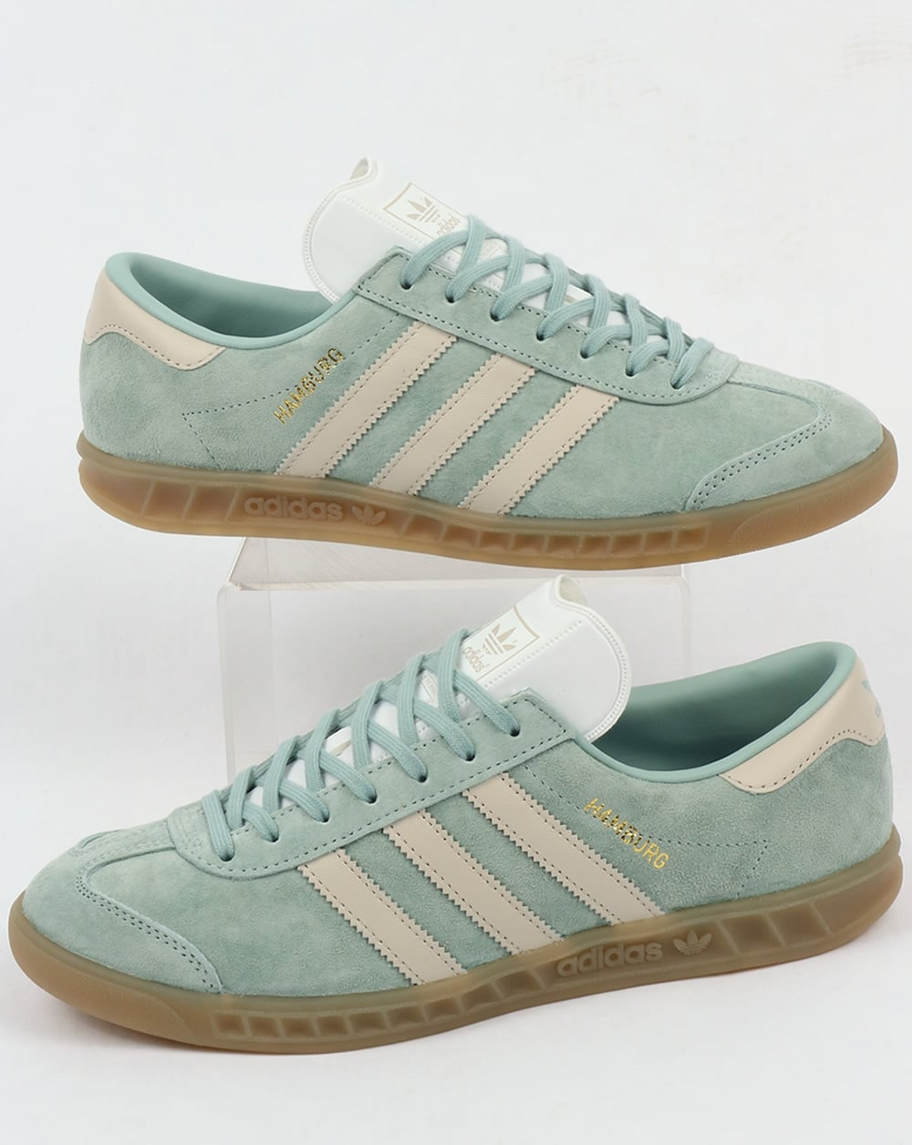 Adidas Hamburg Trainers Tactile Green Clear Brown