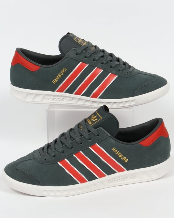 Adidas Hamburg Trainers Utility Ivy/Red