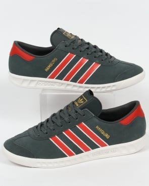 Adidas Trainers Adidas Hamburg Trainers Utility Ivy/Red
