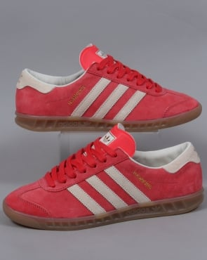 Adidas Trainers Adidas Hamburg Trainers Washed Red/White