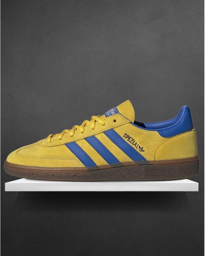 pavo ducha Talentoso  Adidas Handball Spezial Trainers Yellow/Blue - 80s Casual Classics