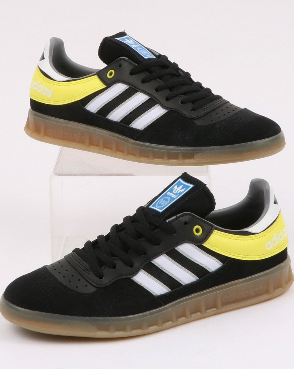 adidas Trainers Adidas Handball Top Trainers Black White Shock Yellow 433c739a8