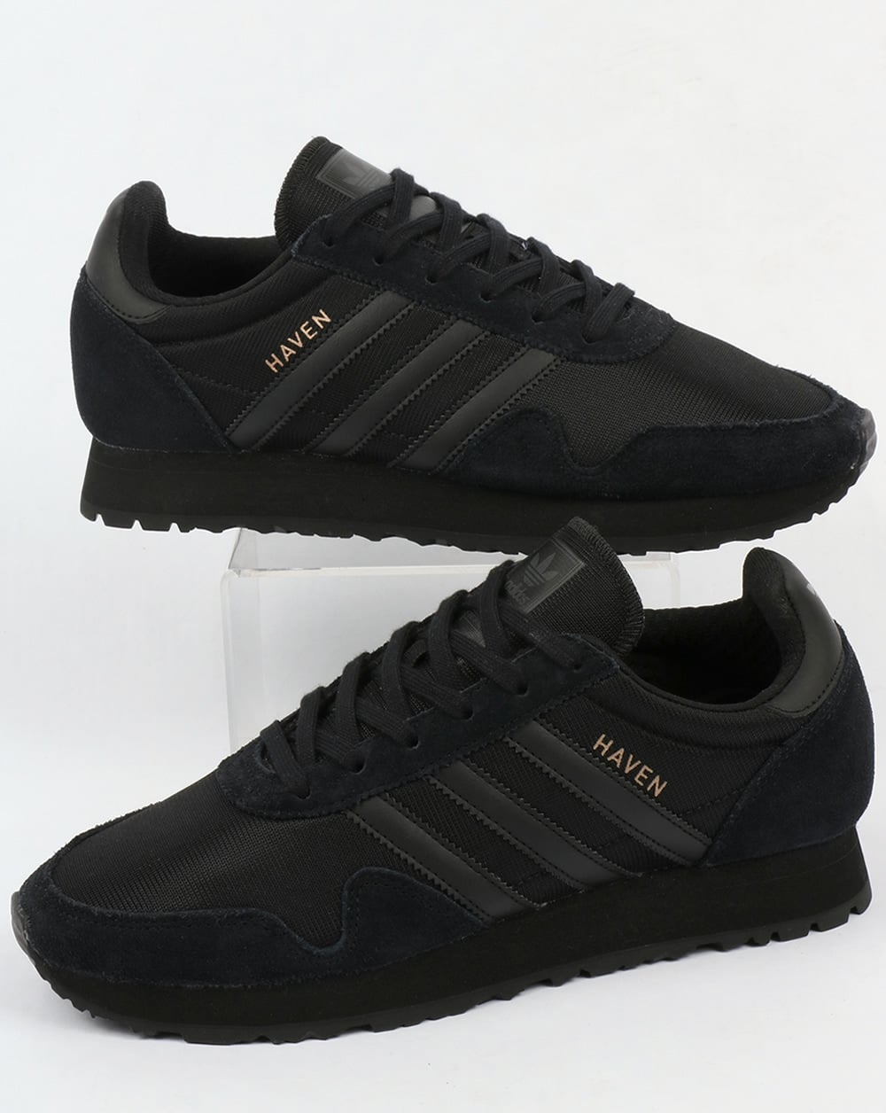 The Black Trainers come with Stealth Jump as a main ability when purchased from shop or ordered from Murch, which, being exclusive to the main slot of Shoes, prevents the wearer from also having Drop Roller or Object Shredder.