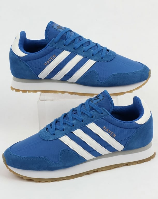 Adidas Haven Trainers Blue/White/Gum