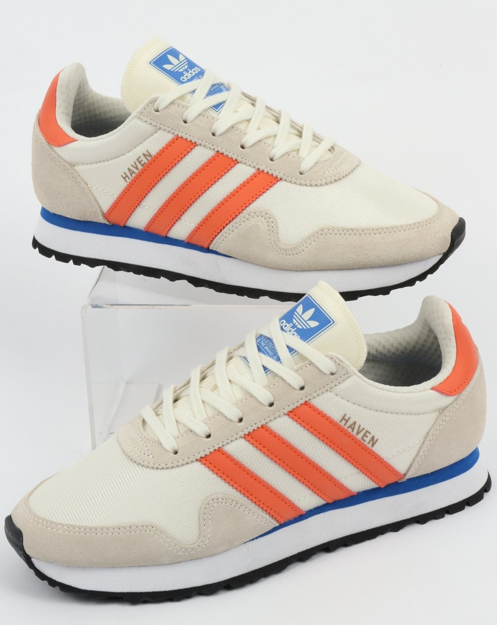 8d9a3ad1da68 adidas Trainers Adidas Haven Trainers Chalk White Trace Orange