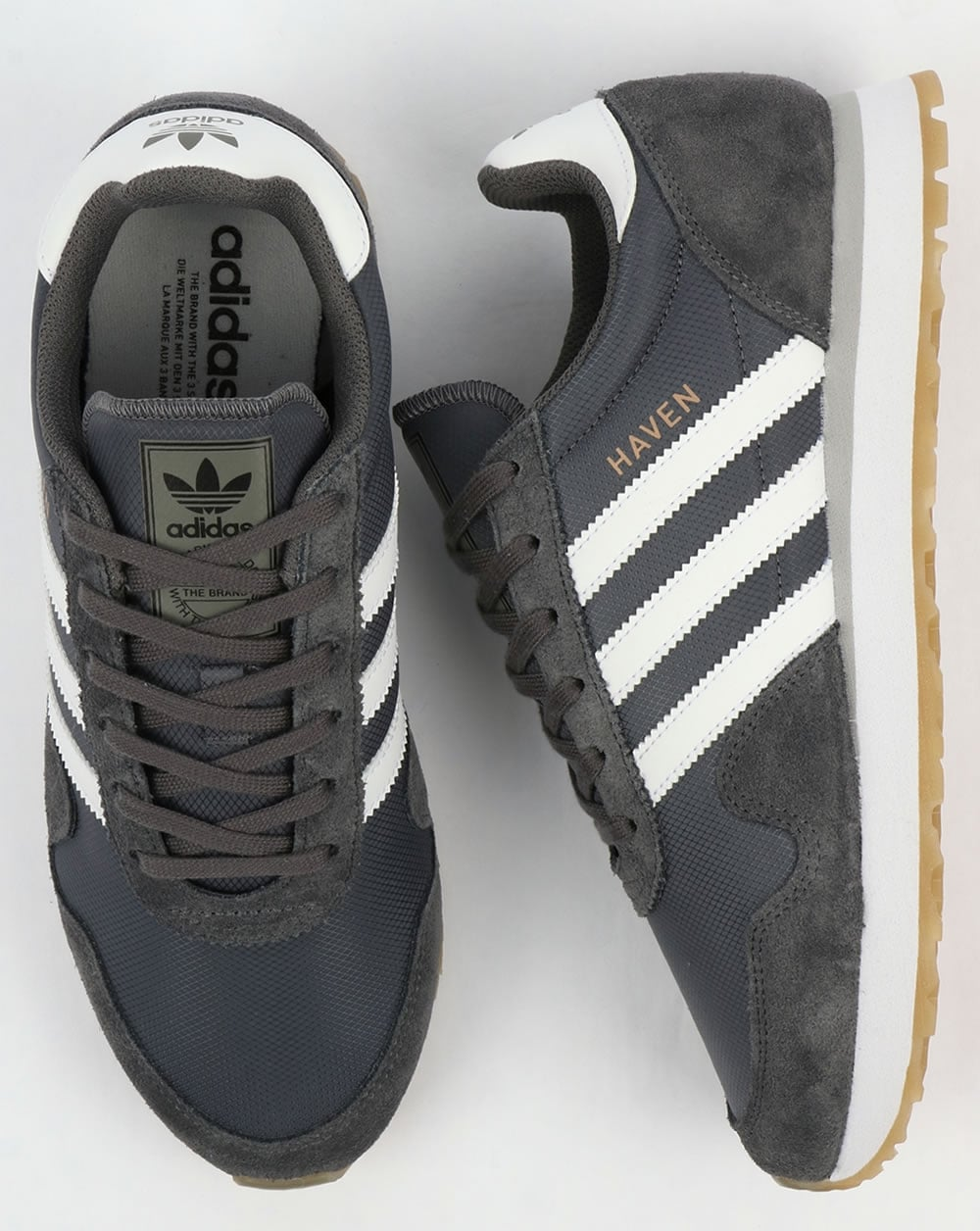 Adidas Haven Trainers Grey White Gum 015a802ae8