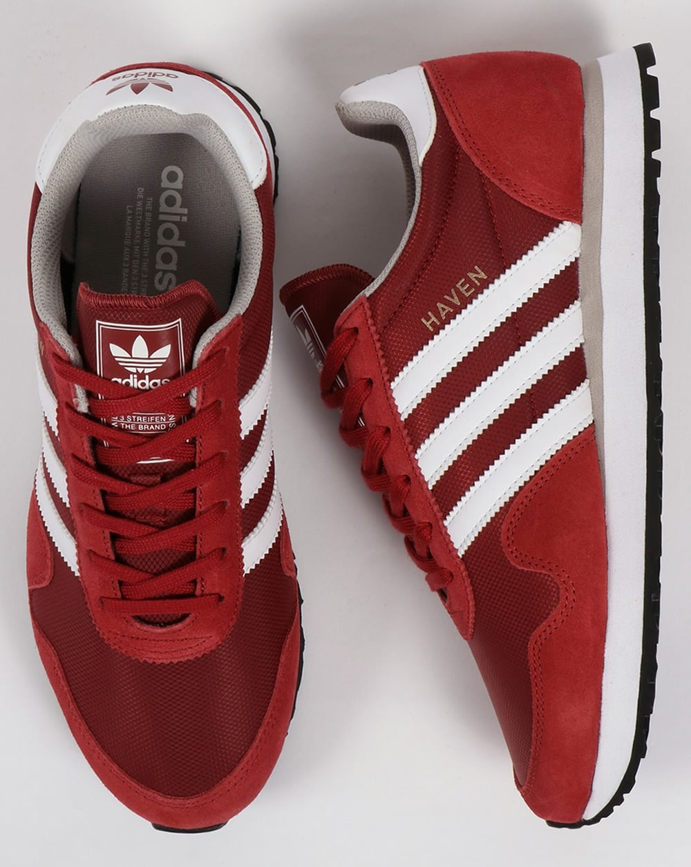 e7233d7fa754 Adidas Haven Trainers Mystery Red White