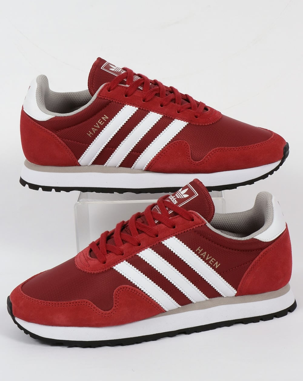 df58ba0a4492 adidas Trainers Adidas Haven Trainers Mystery Red White