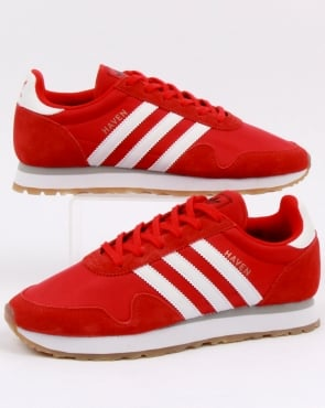 Adidas Haven Trainers Red/White/Gum