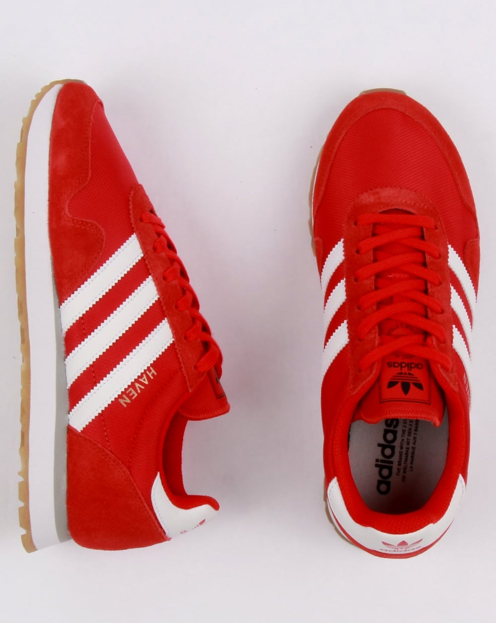 b3c94ae56406 Adidas Haven Trainers Red White Gum