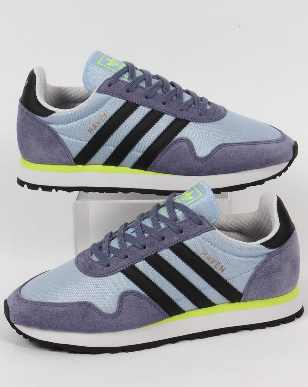 6d4206ab6a0 adidas Trainers Adidas Haven Trainers Soft Blue Black