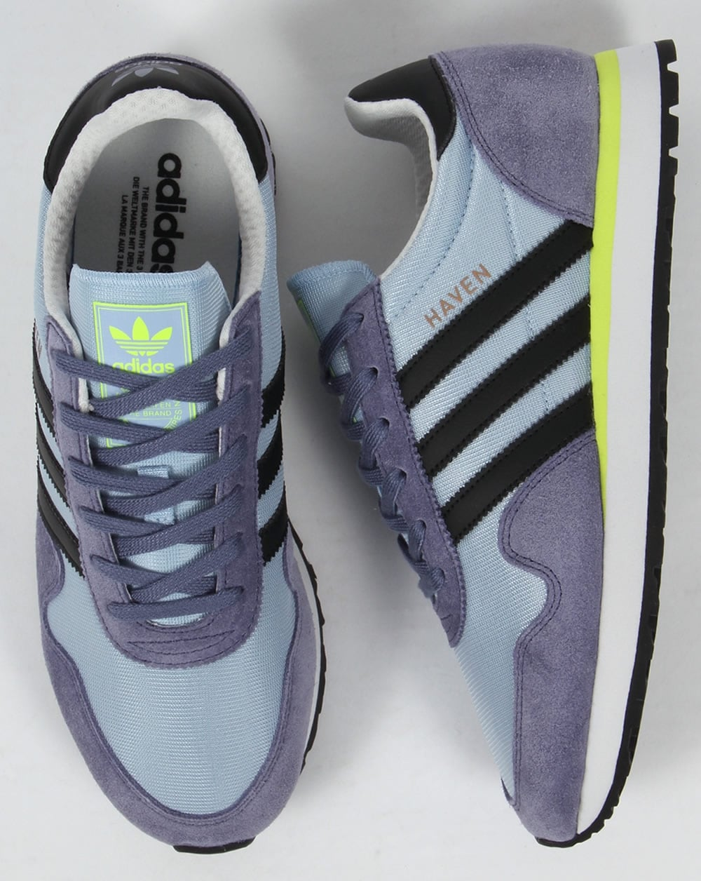 eceaf62fa37 Adidas Haven Trainers Easy Blue Black Yellow