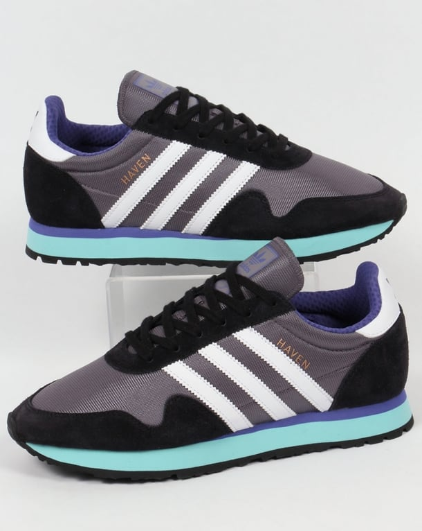 Adidas Haven Trainers Trace Grey/White/Aqua