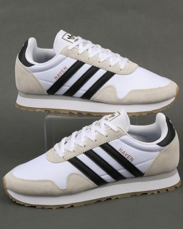 Adidas Haven Trainers White/Black/Gum