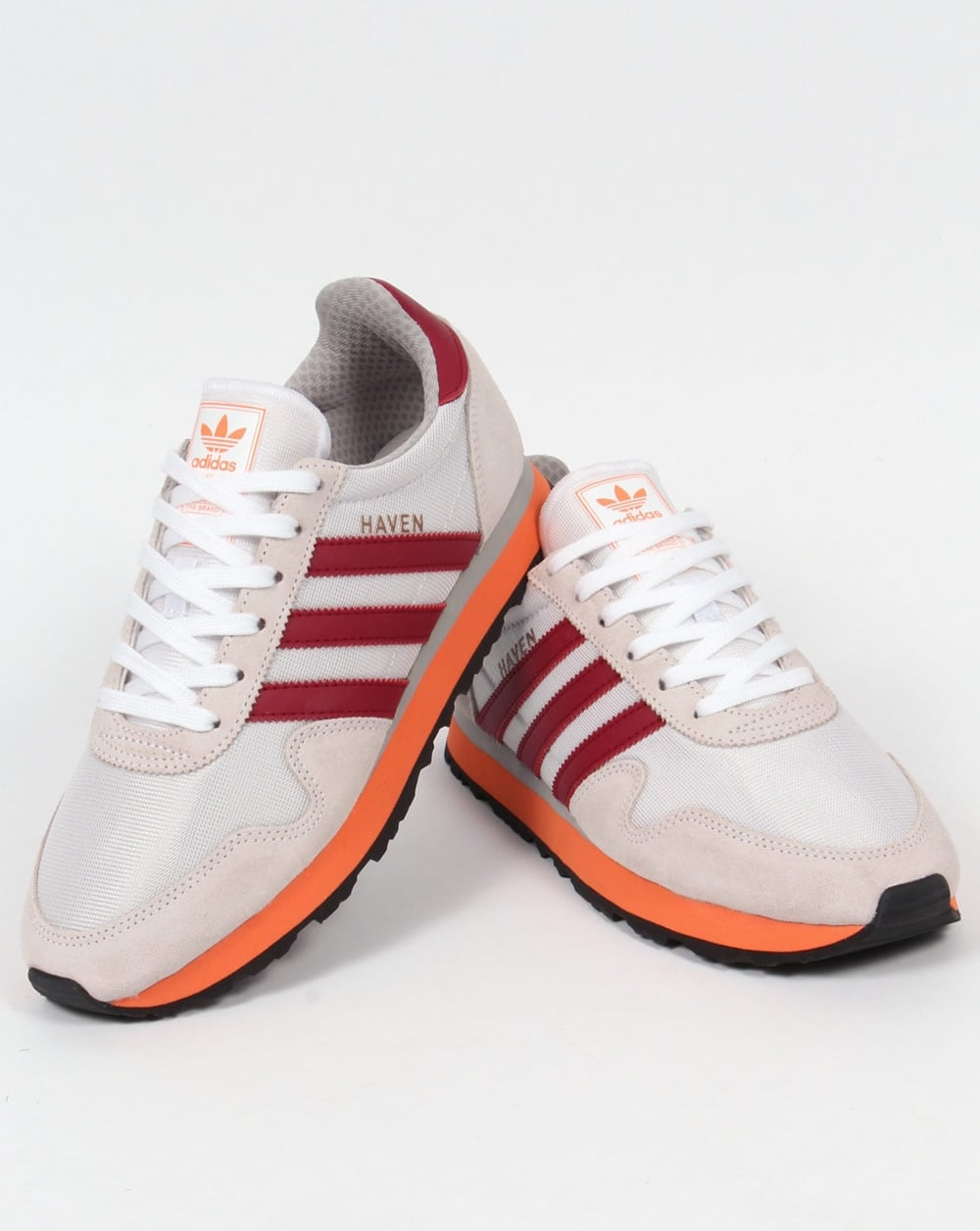 later vrouwen online te koop Adidas Haven Trainers White/Burgundy Red