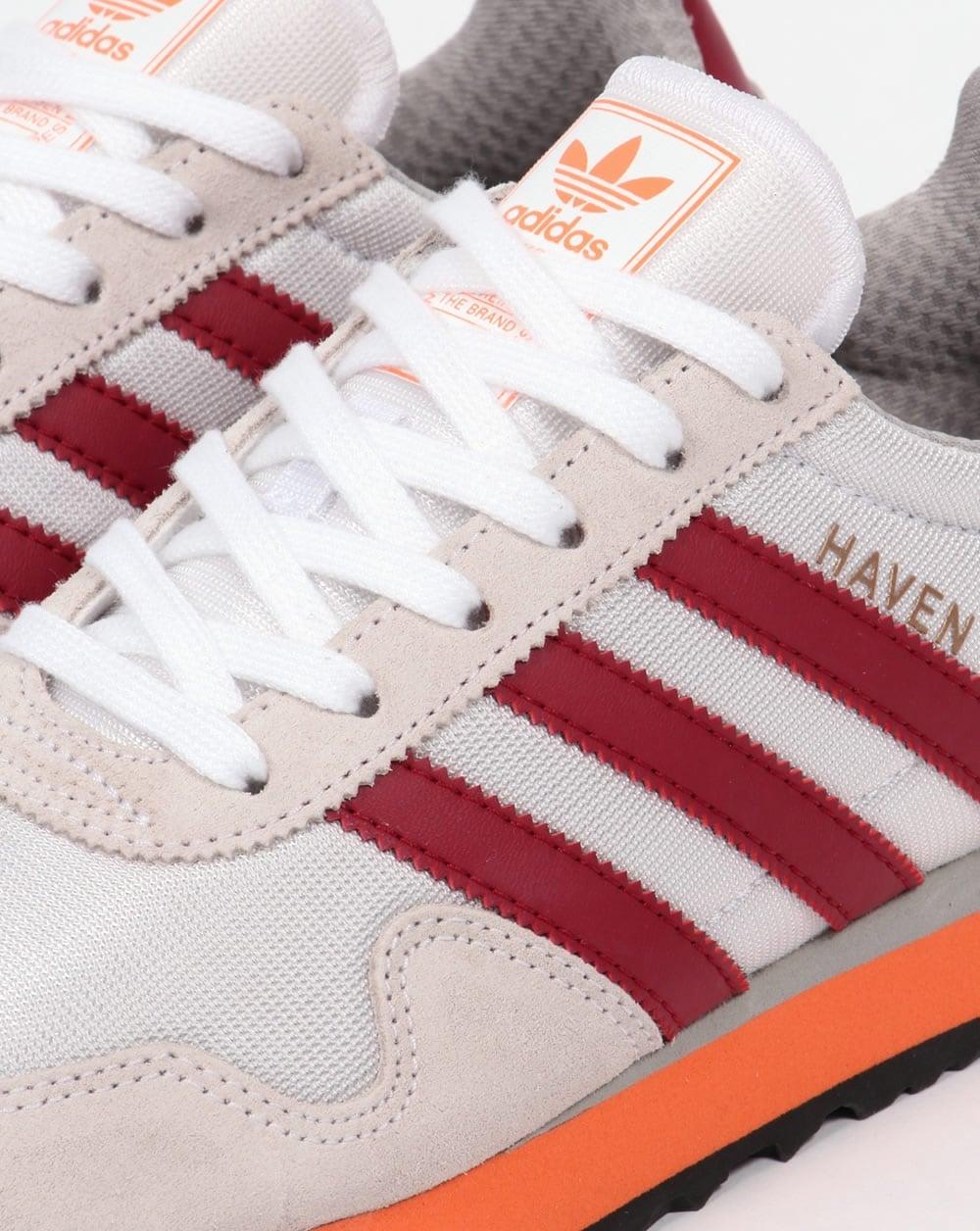 Adidas Haven Trainers WhiteBurgundy Red