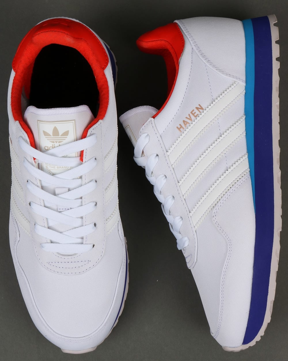 Adidas Haven Trainers White orange