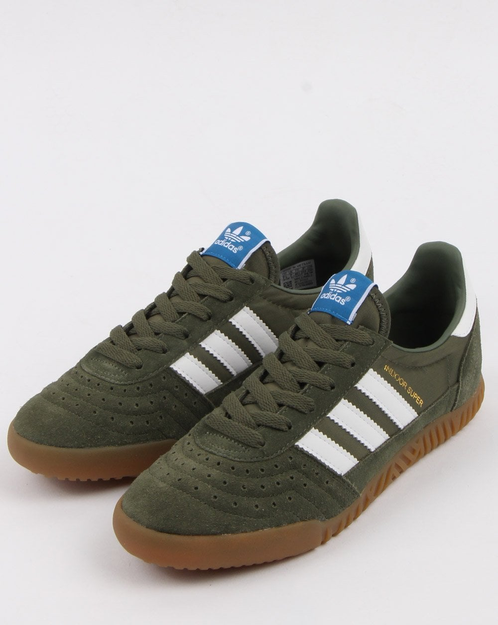 Adidas Indoor Super Trainers Base Greenwhitegum