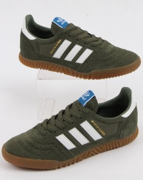 adidas Trainers Adidas Indoor Super Trainers Base Green/white/gum