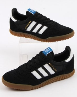 adidas Trainers Adidas Indoor Super Trainers Black/White/Gum