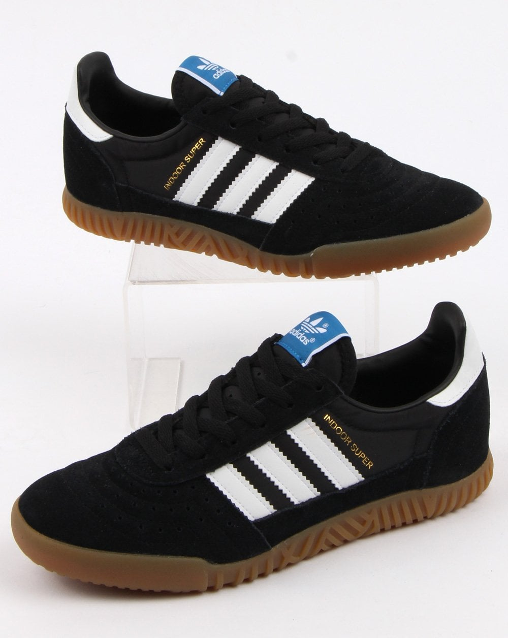 Adidas Indoor Super Trainers BlackWhiteGum
