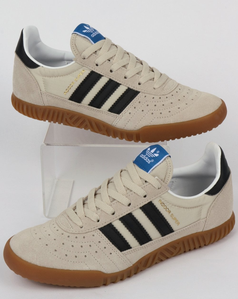Adidas Indoor Super Trainers Clear BrownBlack