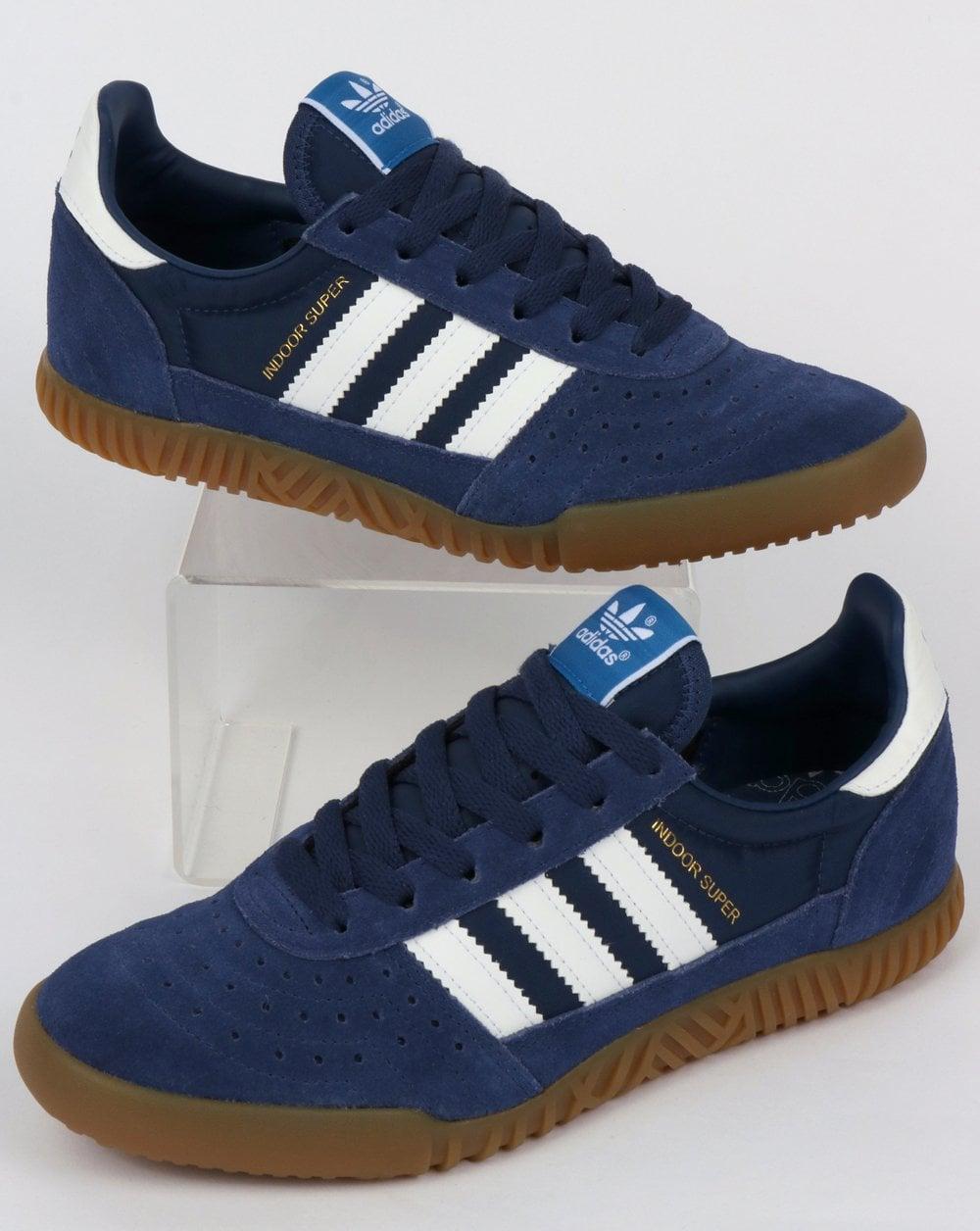 3ad8ccc4ec8 adidas Trainers Adidas Indoor Super Trainers Navy Indigo White