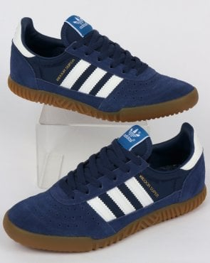 adidas Trainers Adidas Indoor Super Trainers Navy Indigo/White
