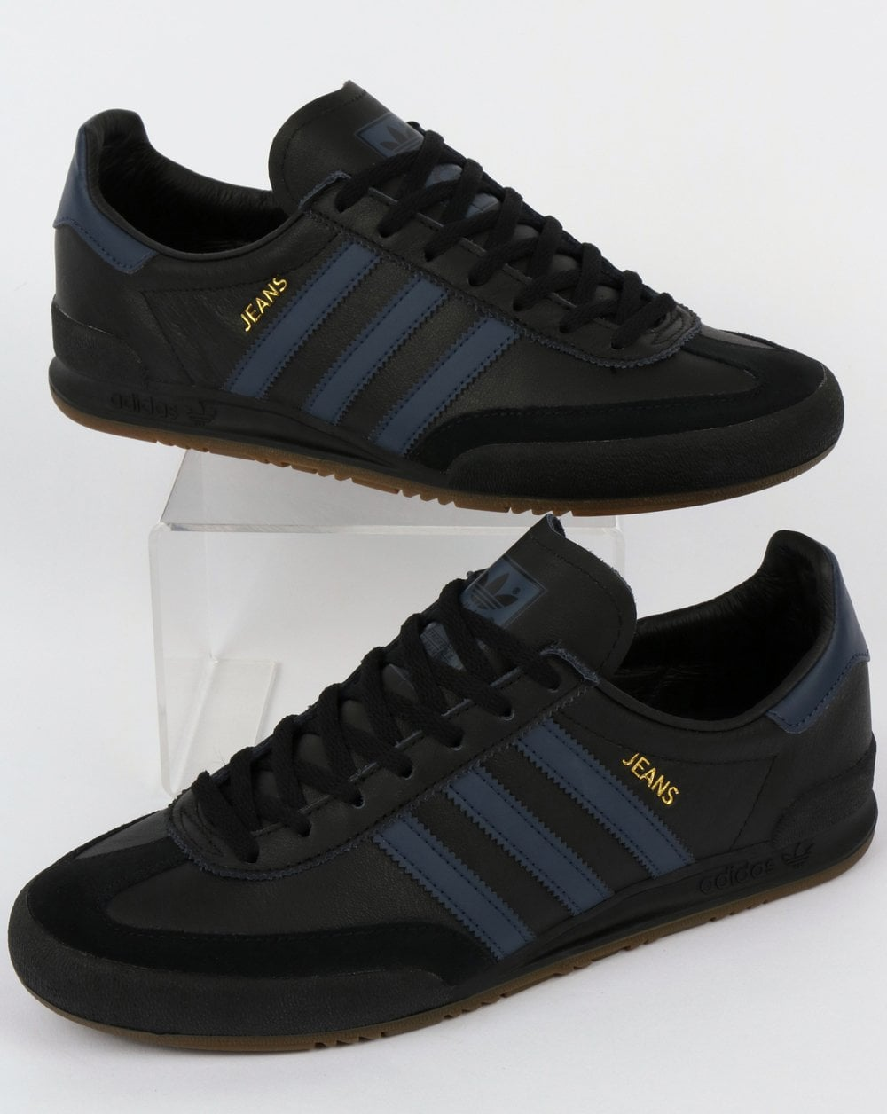 Adidas Black Jeans Trainers Jeans Leather Adidas Adidas Leather Trainers Leather Jeans Trainers Black A54jRL
