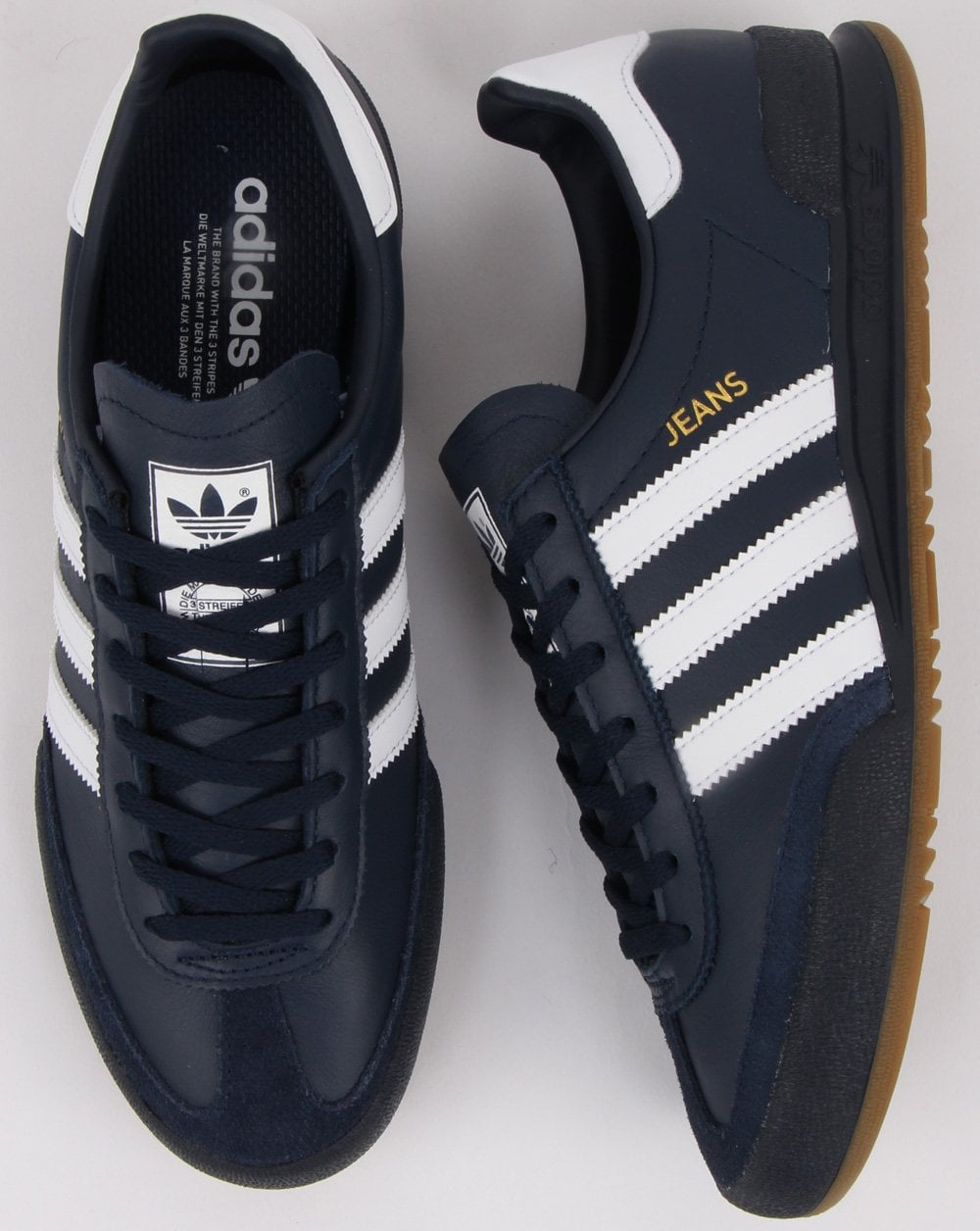 Adidas Jeans Trainers Navy, white