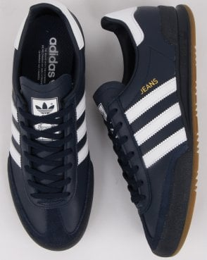 c637edfd1 adidas Trainers Adidas Jeans Leather Trainers Navy white