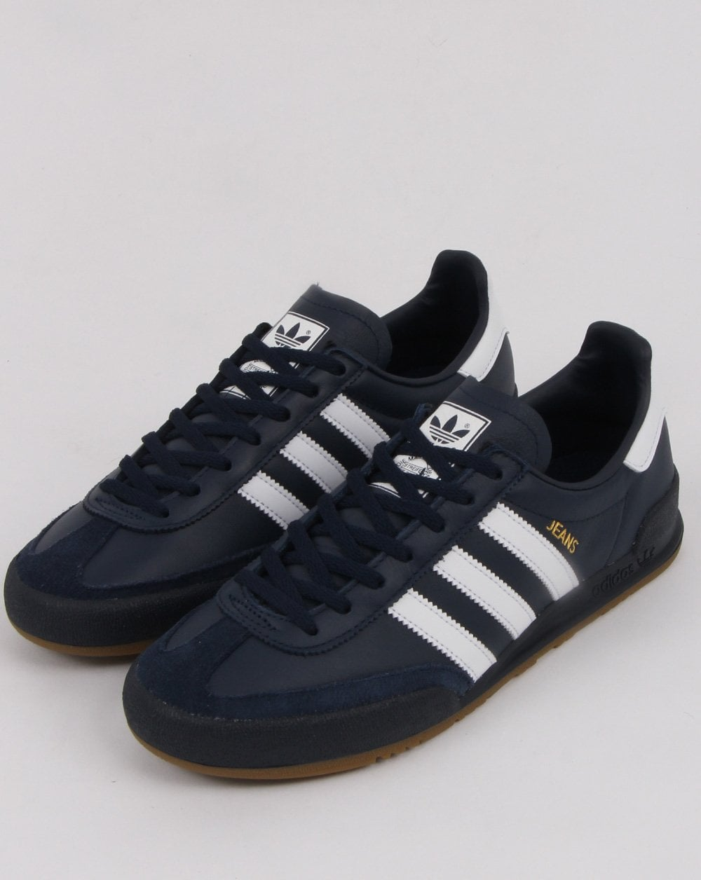 Adidas Jeans Leather Trainers Navy/white