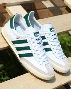 adidas Trainers Adidas Jeans Leather Trainers White/Green ...