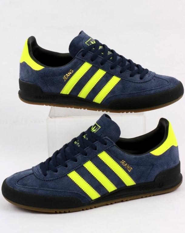 Adidas Jeans MK1 Trainers Navy/Solar Yellow