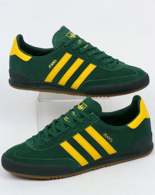 Adidas Jeans MK2 Trainers Green/Yellow