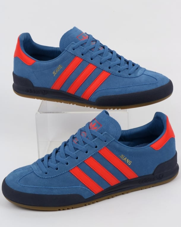 Adidas Jeans Mk2 Trainers Royal Mist/Red