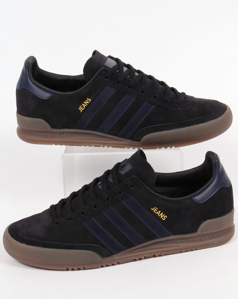 adidas jeans trainers black